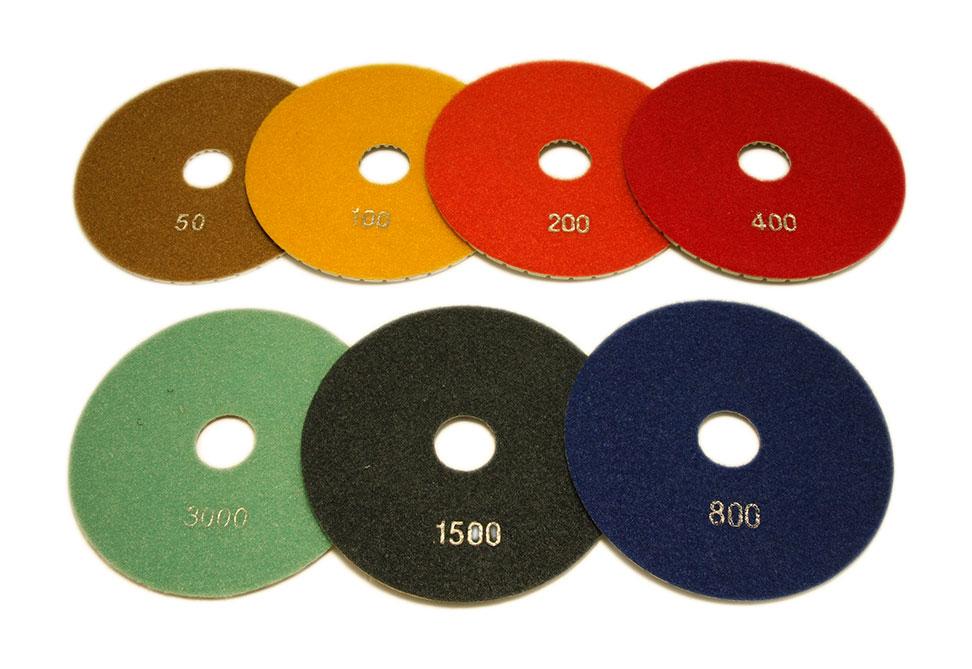 Алмазный гибкий шлифовальный круг d 150мм №50-3000 - Комплект АГШК d 150мм №№ 50-3000